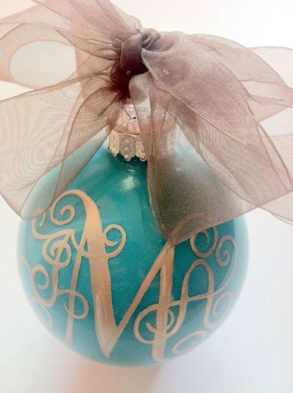 Monogram Ornament Handpainted