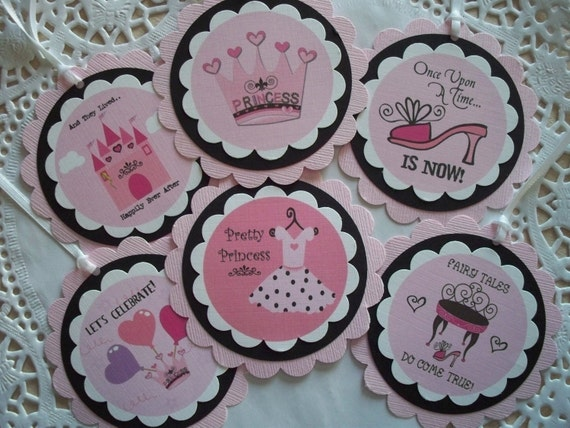 Gift Tags - Pretty Princess - Set of 6