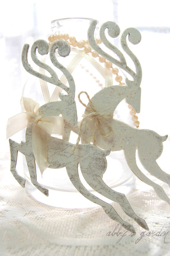 Комплект из двух зима белым орнаментом оленей вдохновлен дуги Жизнь Жанны д '