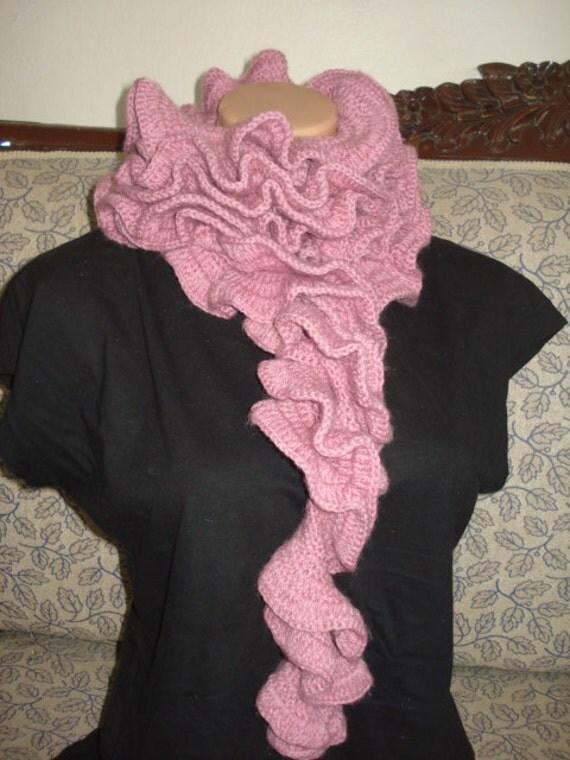 مد پودر صورتی رز رنگی اضافی روسری بلند