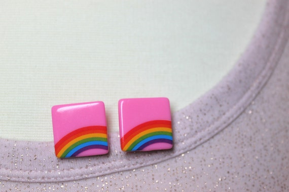 Retro Rainbow Post Earrings