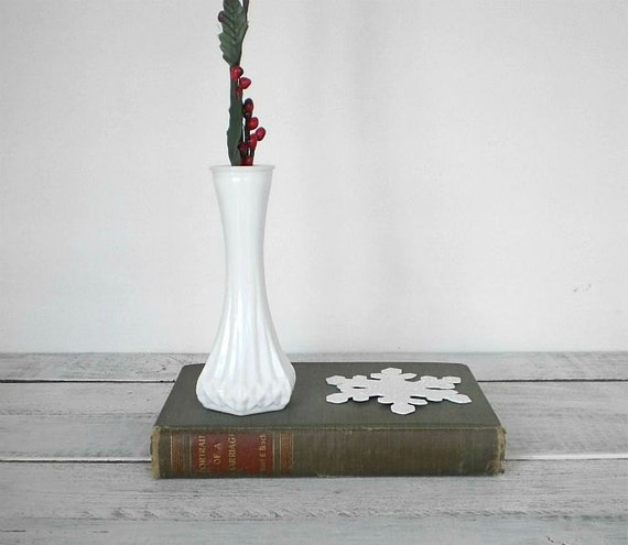 Vintage milk glass vase.