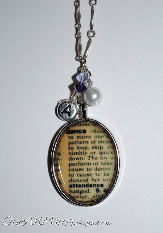Custom Dictionary Definition Necklace