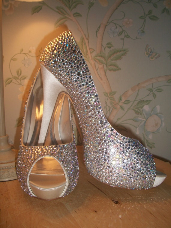 Custom Crystal Cinderella Strassed Shoes