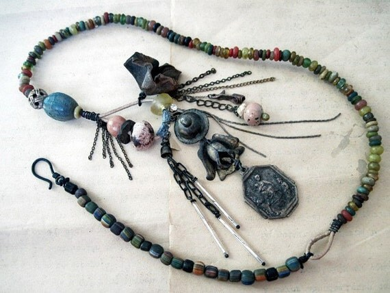 Tribal Gypsy Assemblage Necklace.