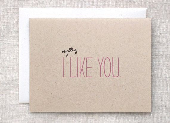 Cute Valentine Card - I Like You Card - Anniversary Card