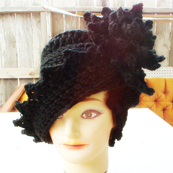 Boxing Day Sale  Winter Crochet Hat  Cloche by strawberrycouture from etsy.com