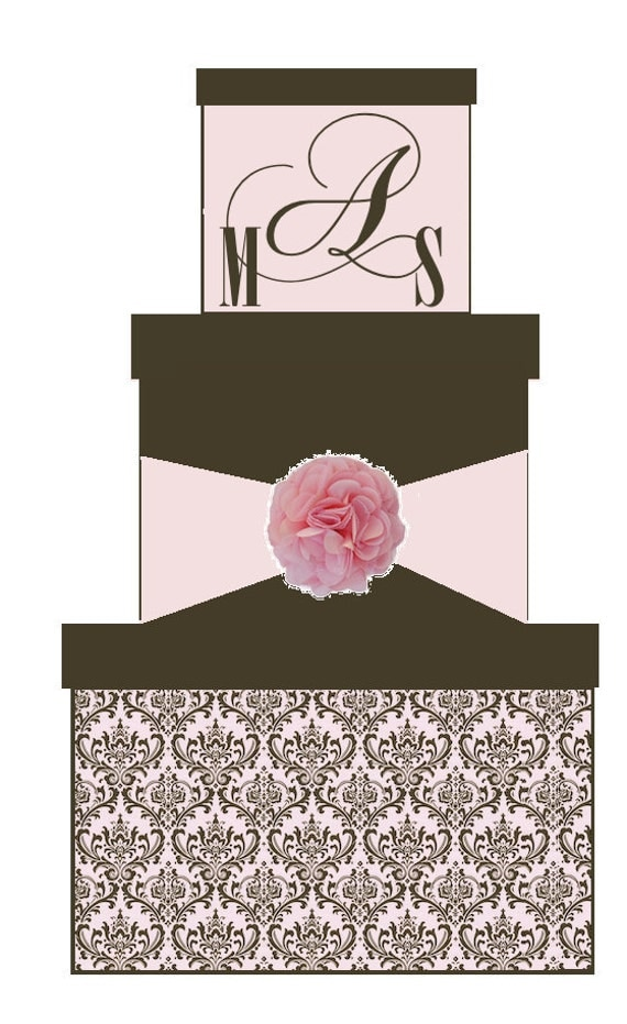Custom 3 Tier Wedding Card Box or Sweet 16 Card Box or Baby Shower Card Box