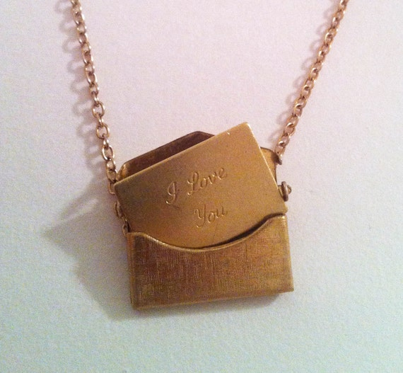 Envelope Necklace - 'I Love You'