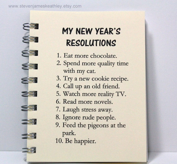 New Year's Resolutions Journal Diary Notebook Idea Book