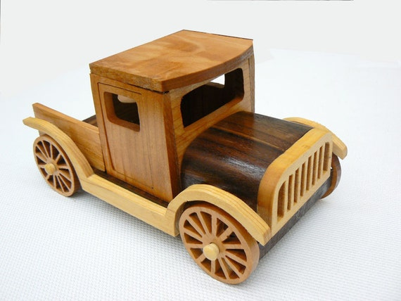 Old Truck Wood Toy