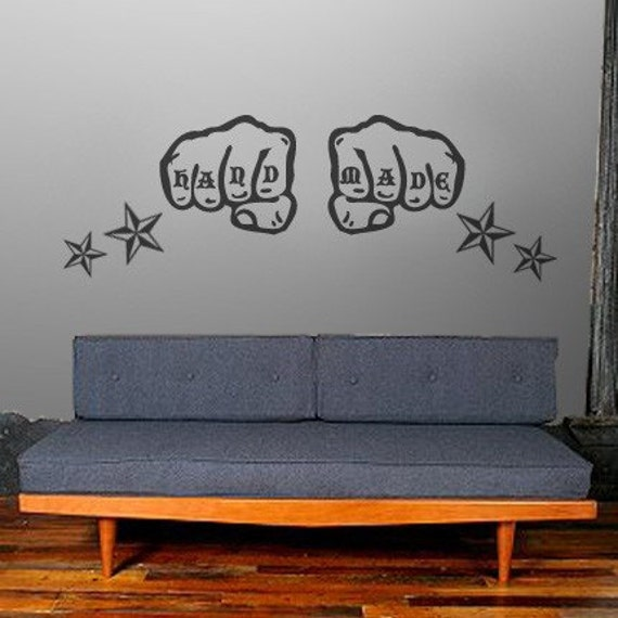 CUSTOMIZABLE KNUCKLE TATTOO WALL DECAL ART PROJECT. From HutchMe