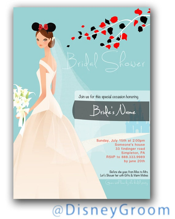 Bridal Shower Invitations Bridal Shower Invitations Disney