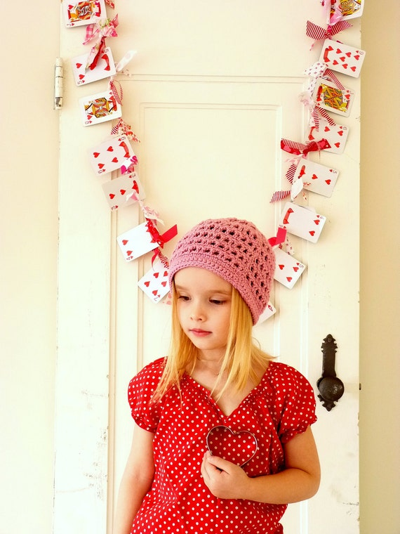 Valentine's Day Garland Playing Card and Knotted Fabric Garland Free Shipping to Ontario, Canada