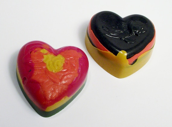 Recycled Crayons Hearts....great for Valentines Get Togethers,Costume Parties, Bridal Showers  and  so much more.