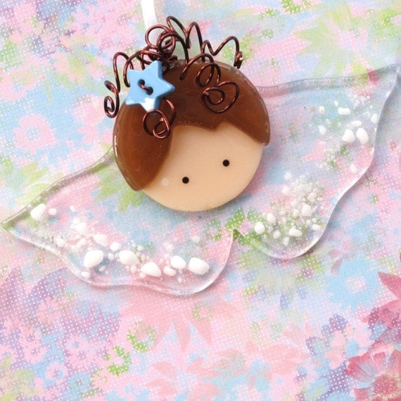 117 Angel Blue Christmas Ornament Baptism Shower: Trina's Trinketts: Etsy Finds Friday