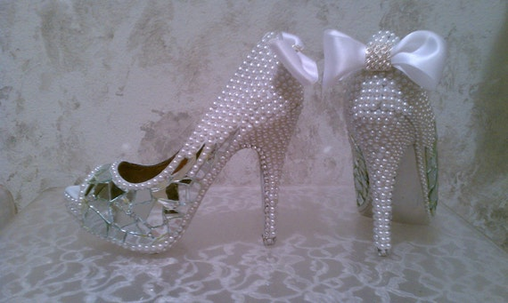 Crystal, Pearl and Mirror Shoes