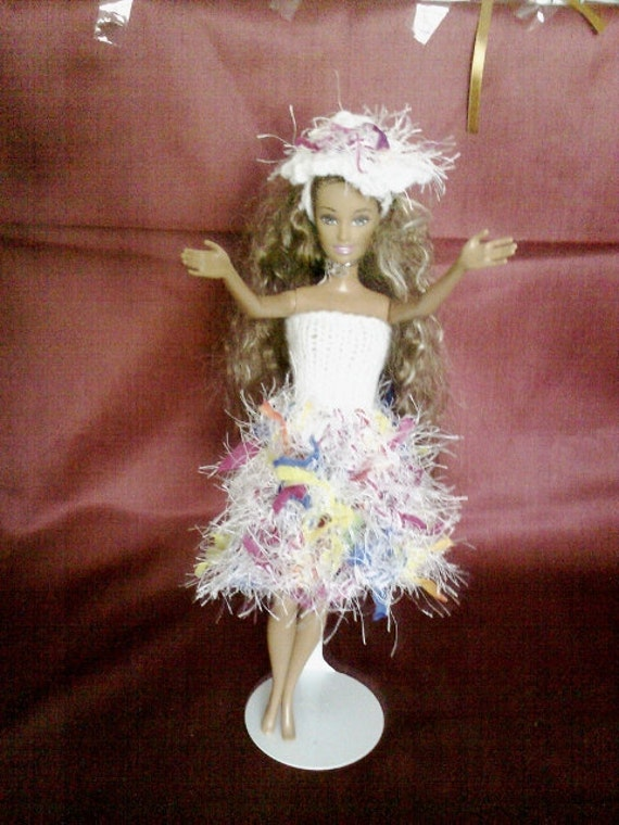 New handmade ROYAL WEDDING inspired design dress and hat barbie doll