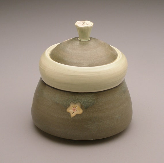 Bird & Cherry Blossoms - Honey Pot...Sugar Bowl- Ruchika Madan
