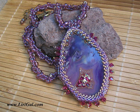 Medusa Gorgona.Beaded  Pendant