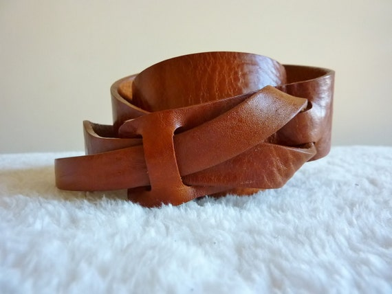 Camel Leather MUSE Belt 1 1/4 inch by MuseBelts on Etsy from etsy.com