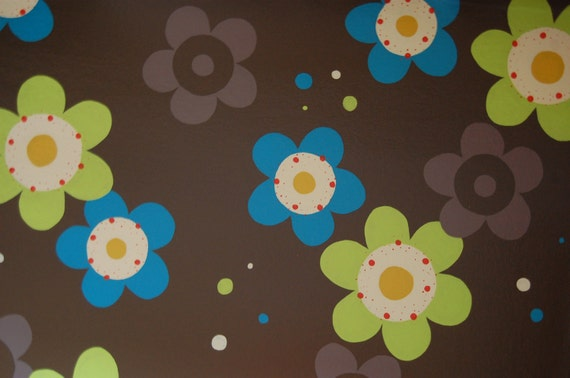 flower floorcloth