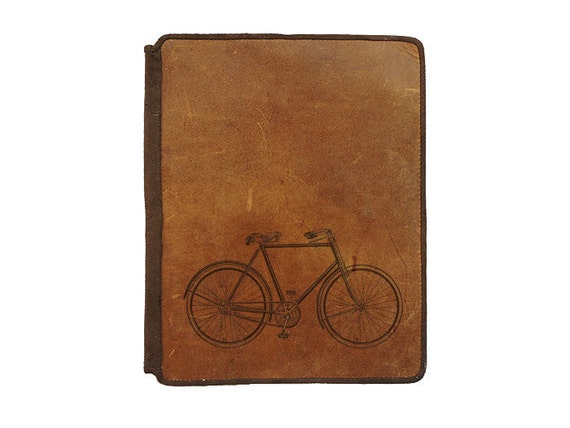 Stylish Leather Case for iPad 2 - Bicycle
