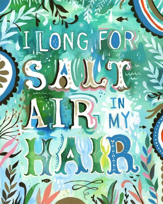 Salt Air Hair - Large Format