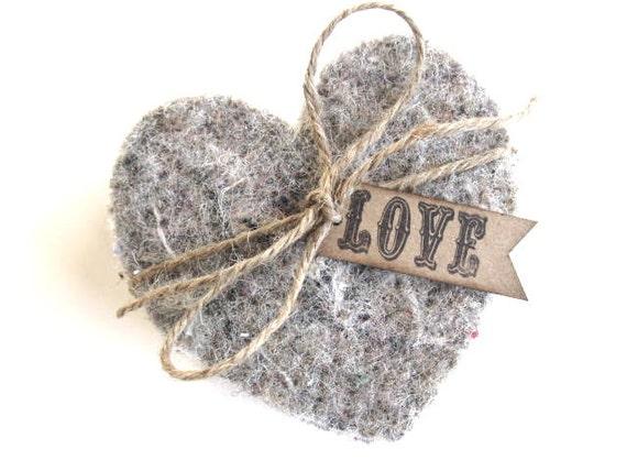 Сердце Подставки - подставки из джута - комплект из 4 - партия или свадьбы пользу