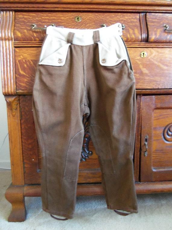 Vintage 1930's Equestrian Horse Riding Pants- Jodphur Pants