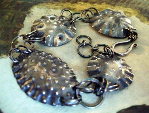 Sterling Silver Sea Urchin Bracelet by Anvil Artifacts
