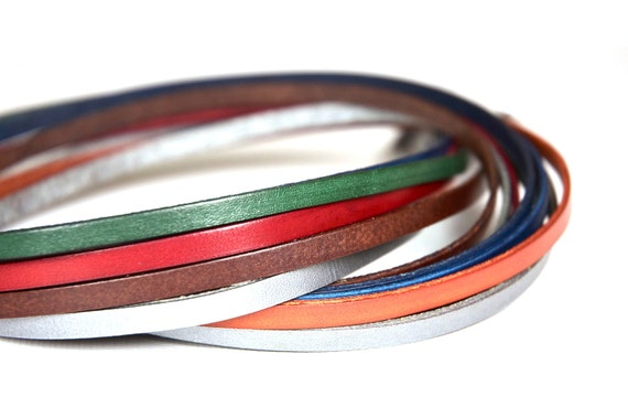 Leather Bracelet and Bag Strap, 6 yards of thin Leather Lace for the price of 5, leather jewelry supplies