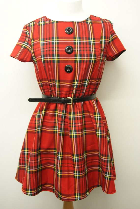 Amber tartan 50s dress