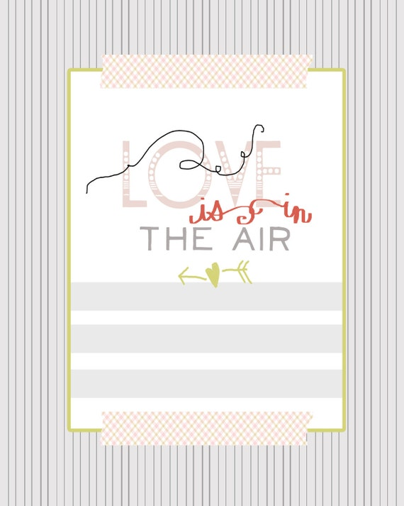 love is in the air graphic print