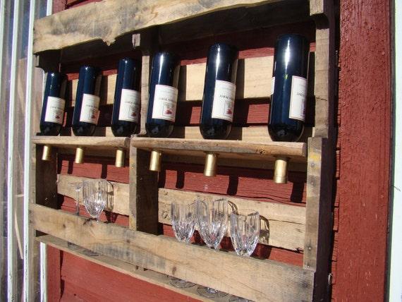 Estante del vino reciclado