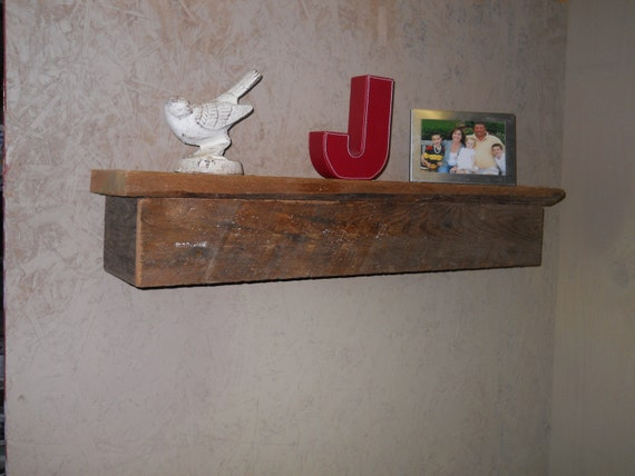 Barnwood estantería de pared, estante Barnwood, madera reciclada