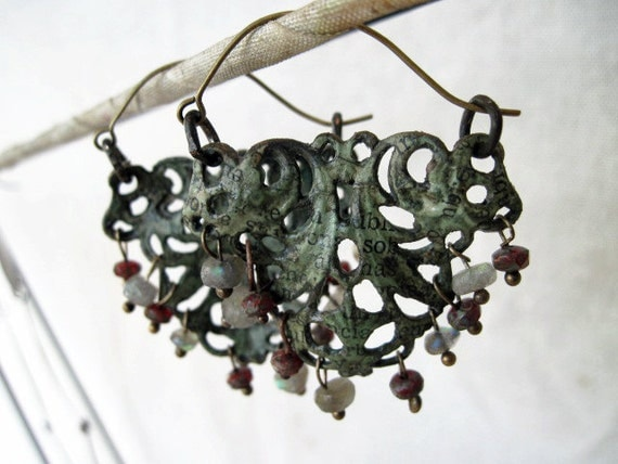 Selcouth. Papered Filigree Earrings.