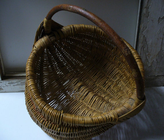 Antique Woven Egg Basket