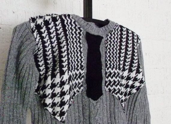 Recycled Sweater Boys Vest and Tie in a size 8