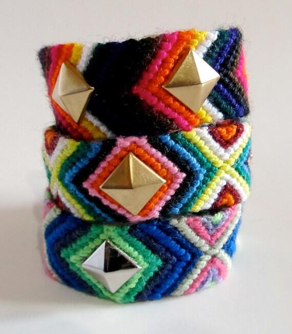 Jumbo Studded Friendship Bracelet (1)