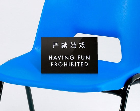Funny Chinglish Sign - Having Fun Prohibited