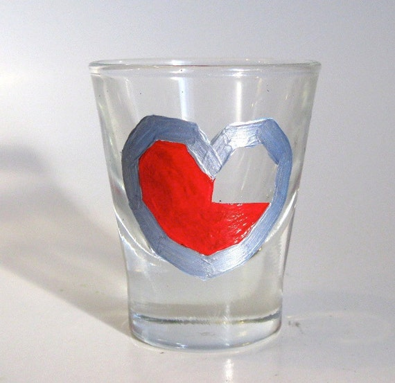 Heart Container Shot Glass- One Zelda Inspired Shot Glass