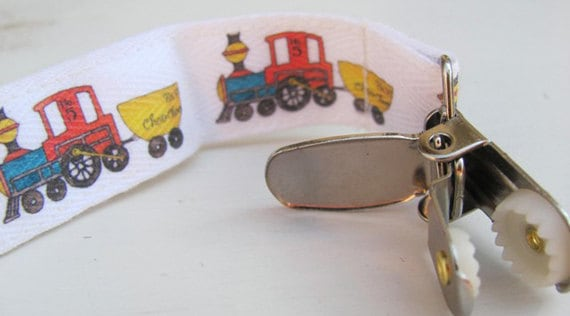 Choo Choo Train Pacifier Clip