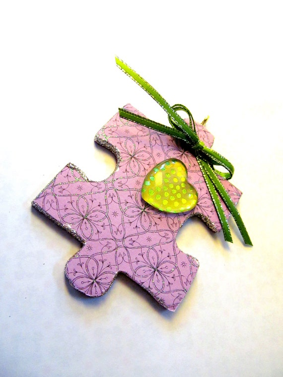 Puzzle Piece ornament: A little piece of me to you