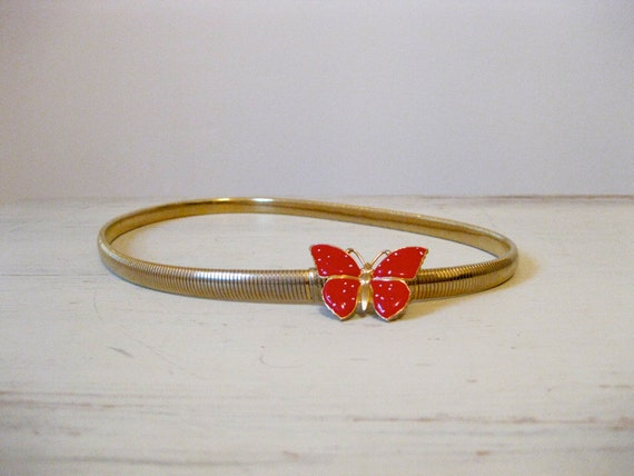 vintage 80s butterfly belt // small