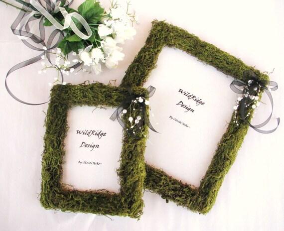 BLACK WHITE Moss Wedding FramesSpring WeddingSummer WeddingNatural