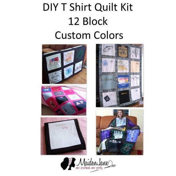New!  T Shirt Memory Quilt Kit – 12 Block Design