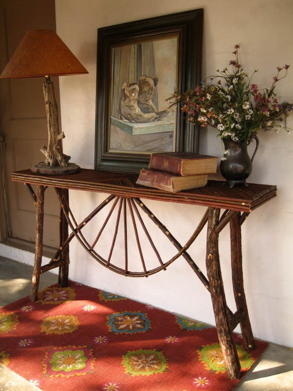 Log and twig console table