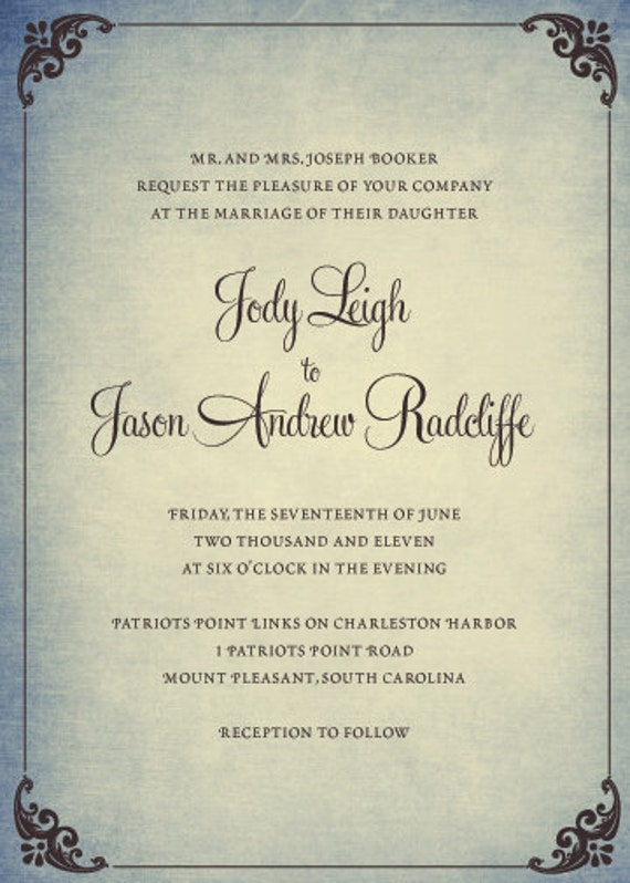 Want your own professional and unique wedding invitation