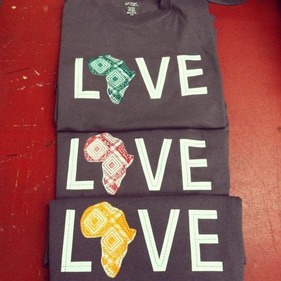 LOVE Africa T-shirt: Small Orange